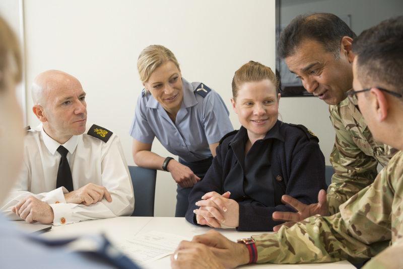 Tri service personnel